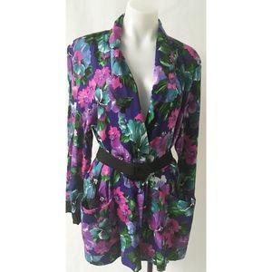 Green & Purple Vintage Blazer Size Medium